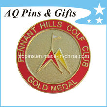 Gold Metal Badge with Imitation Cloisonne (badge-058)
