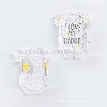Compras on-line personalizado recém-nascido bebê orgânico algodão bebê Romper