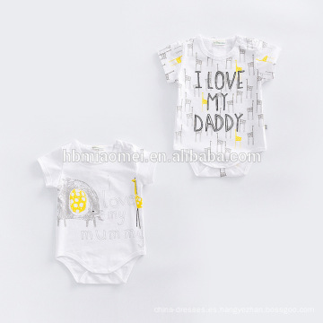 Compras en línea personalizada bebé recién nacido algodón orgánico bebé mameluco