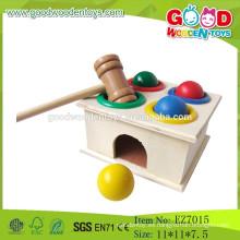 2015 El más nuevo juguete de martillo de madera del martillo de la bola del juguete de madera juguetes de madera del martillo