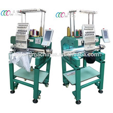 Nouveau type Multi-purpose Single Head 12 Needles Cap / T-shirt Broderie Machine