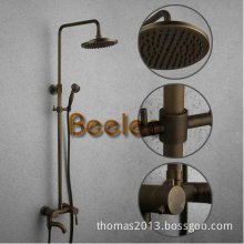 """Luxury Antique Brass Color Rainfall Shower Set with 8"""" Shower Head (Q12001b)"""