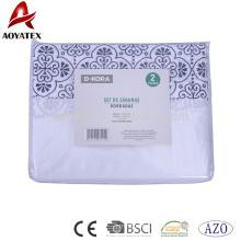 Ensembles de lit de quilty de 5pc haut et ensemble de feuille de lit de microfiber pour la maison, ensemble de drap de lit de polyester