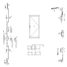 Aluminum Balcony Door Fitting