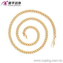 Imitaion способа Xuping 18k золото покрытием без камня Neckalce в окружающую среду меди-42639