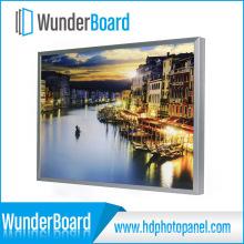 Heißer Verkauf Plug-in Design Metall Bilderrahmen für Wunderboard HD Aluminium Foto Panels