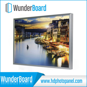 Hot Sell Plug-in Design Metal Photo Frame for Wunderboard HD Aluminum Photo Panels