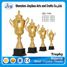 popular designs custom golden metal trophy with personalized logo