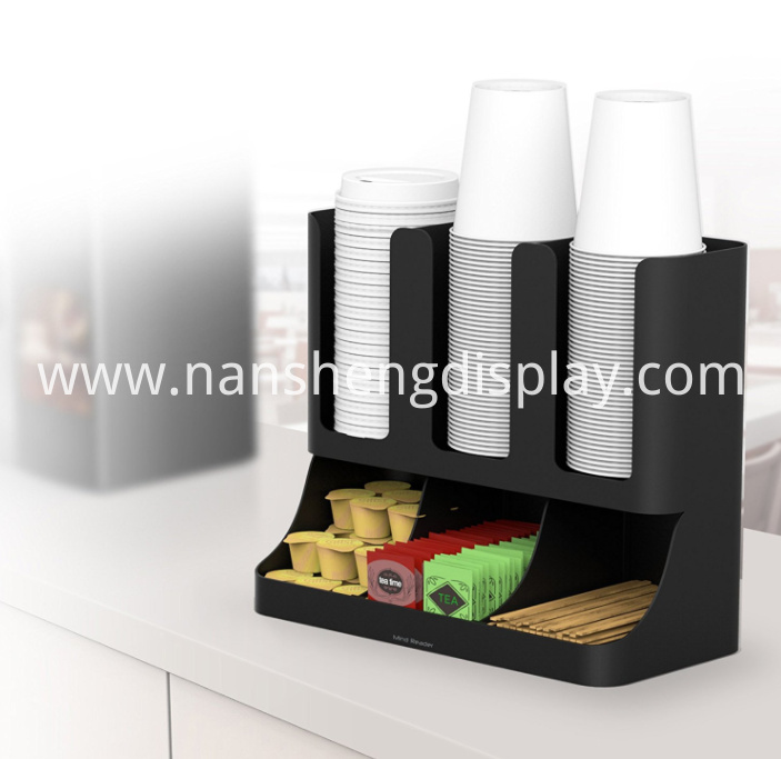 Upright Coffee Condiment Organizer