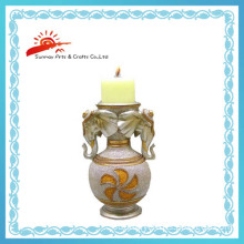 Resin Candle Holder for Home Decoration (SMD92134-3)