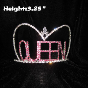 Pink Letter Queen Crowns