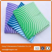 Polyester perforé par aiguille et tissu de nettoyage non-tissé viscose de tissu, tissu de nettoyage de cuisine
