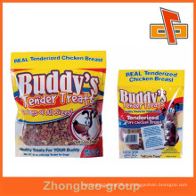 Kundenspezifische Kunststoff-transparente Lebensmittelverpackung Heißsiegelbare Hundebehandlungsbeutelverpackung mit laminiertem Material