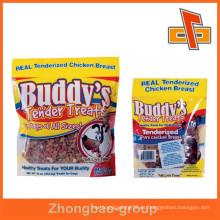 Empaquetado plástico transparente de encargo del alimento que empaqueta el empaquetado sellable del bolso del convite del perro con el material laminado