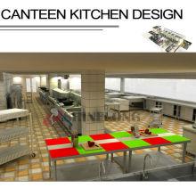 Conception personnalisée de cuisine de cantine de projet de Shinelong
