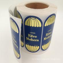 Etiqueta personalizada de papel semi-brilho em branco para etiqueta de garrafa de vinho