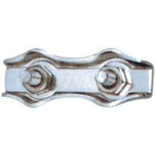 Cables de alambre de metal de doble serie de clips para amarrar la cuerda