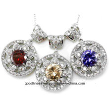 Special Design and Wholesale 925 Sterling Silver CZ Pendant P4973