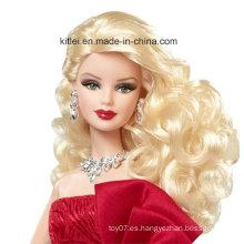 Hot Sell Eco-Friendly bebé plástico princesa al por mayor juguetes de Navidad muñeca