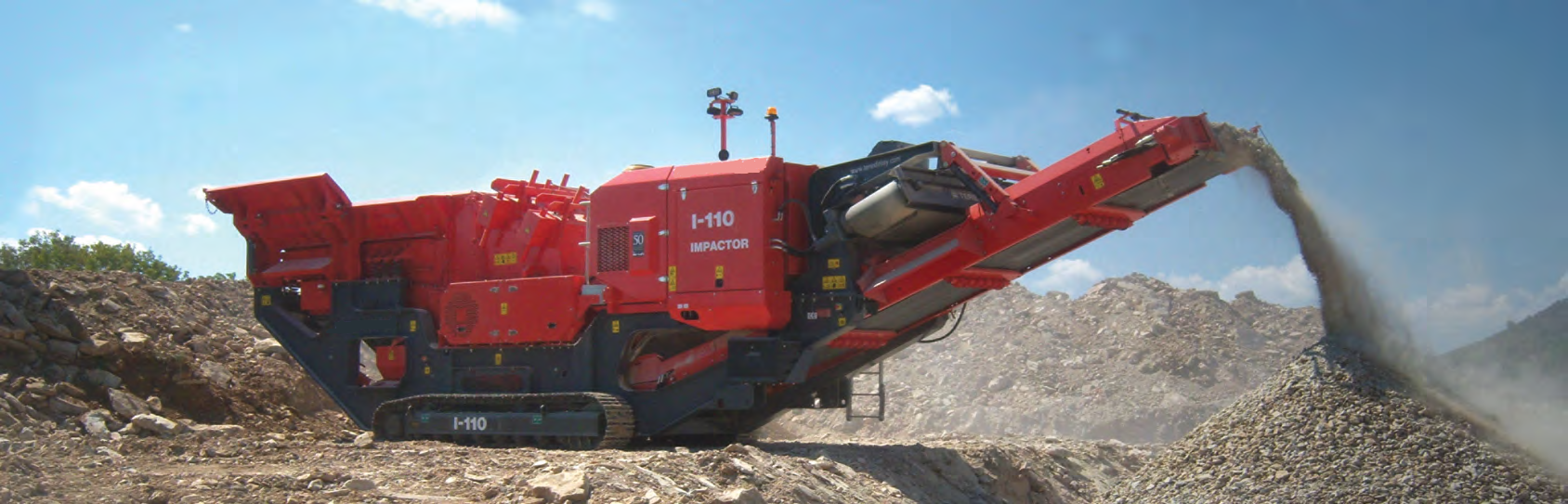 tracked impact crushing plant