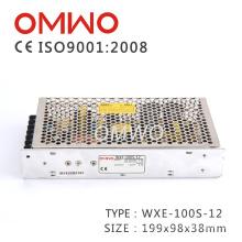 Fonte de alimentação do interruptor de 100W 12V AC / DC, Wxe-100s-12