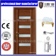 Interior de puertas combinadas de MDF sólido de madera