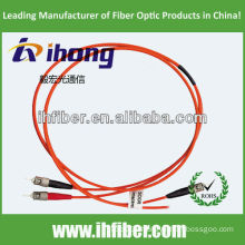 ST/UPC Multimode duplex fiber optic patch cord manufacturer with high quality