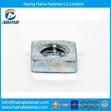 Em estoque Fornecedor chinês Melhor preço DIN562 ss304 Porcas finas quadradas com zinco chapeado / ss304 Porcas finas quadradas com docromet