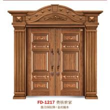 China Puerta de entrada del proveedor de puerta de acero Puerta de puerta de metal del hierro (FD-1217)