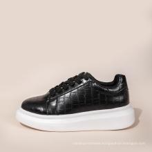 2020 black waterproof warm shoes autumn winter shoes fashion casual woman shoes height increasing