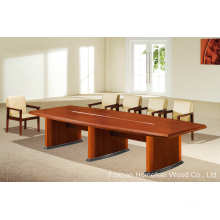 Horse Belly Oblong Shape Wooden Conference Meeting Table (HF-MH7020)