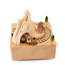 FQ a estrenar suministros personales regalo niños hermosa caja de música de madera del bebé