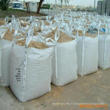 PE sac imprimé jaune sacs sac jumbo pp utilisé pour contenir les ordures et ordure