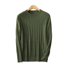 Men's pullover sweaters pure cashmere knitting O-neck long sleeves solid color thick jumpers