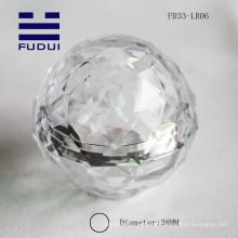 2015 cristal transparente acrílico 38mm eos bolha forma lip balm tubo de embalagem