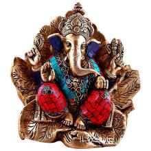 Colorful bronzo Ganesh Statue in vendita
