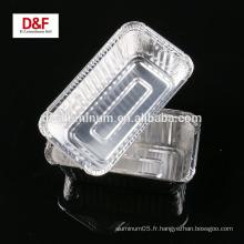 Récipient en aluminium à usage unique à prix compétitif pour aliments