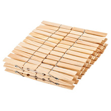 Household High Quality Standard 48 PCS Spring Mini Wooden Clothes Pegs