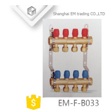 EM-F-B033 brass manifold for flow rate gauge