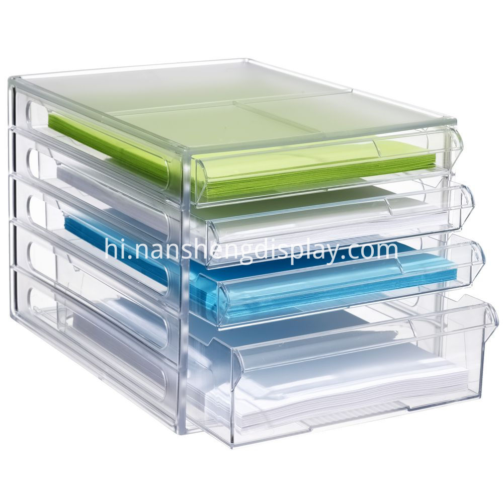 acrylic desktop file box