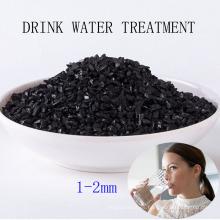 Carbón activado con cáscara de coco de 1-2 mm para el tratamiento de agua potable