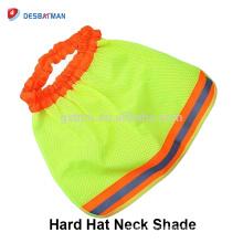 Alta visibilidad Cuello sombreo Seguridad Trabajos Sombreros duros Sol Escudo trabajador Casco Brim Construcción