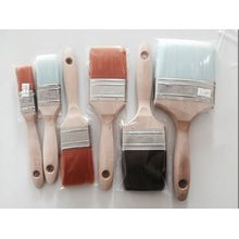 High Quality Wooden Handle Plastic Wire Paint Brush (YY-614)