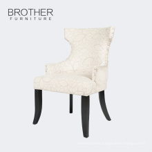 Dining room modern high back upholstered dining chairs with birch wood legs