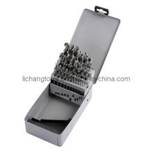 Набор из 25 спиральных сверл HSS с алюминиевой коробкой