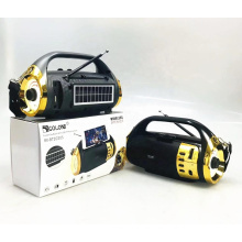 GOLON RX-BT2020S Rechargeable Radio Blue tooth Speaker With USB SD TF Mp3 Player With Solar With Light
