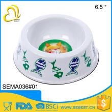 gros durabilité mangeoires en mélamine blanc en plastique pour animaux domestiques