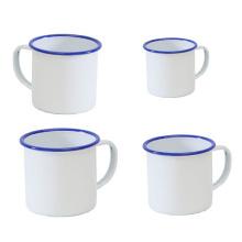 Fabrication personnalisée 5/6/7/8/9/10/11 / 12mm Blanc émail Mug tasse