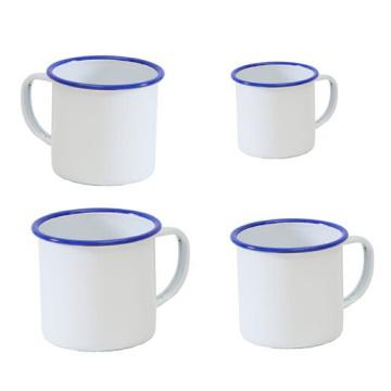 Personalisierte Herstellung 5/6/7/8/9/10/11 / 12mm Weiß Emaille Tasse Tasse