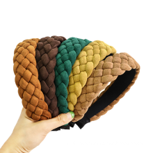 Bandeau Opaska Korean Braid Fabric SPA Headband Solid Autumn Winter Wide Hairband for Woman Girl Fashion Hair Accessories Dropshipping Wholesal